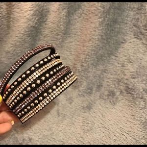 Victory Shine black urban wrap  bracelet